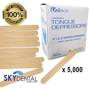 "Tongue Depressors Wooden Wood 6"" Popsicle Stick Craft Dental Sticks up to 10,000"