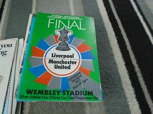 LIVERPOOL V MANCHESTER UNITED 1977 FA CUP FINAL