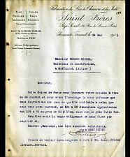 """CLERMONT-FERRAND (63) USINE / TISSUS LIN de CHANVRE & JUTE """"SAINT Freres"""" 1911"""