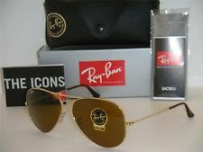 New Authentic Ray Ban Sunglasses Aviator RB3025 001/33 B-15 Brown 58mm Gold