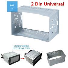 2 DIN Universal Car Radio Frame Fascia Plate DVD Player Mount Install Dash Bezel