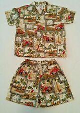 Favant Hawaiian Aloha Island 2 Piece Outfit Boys Size 3 - 4 Summer Short Sleeve