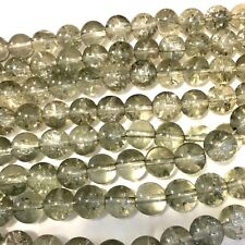 500 Grey Crackle Glass Beads 8mm Beads For Jewellery making