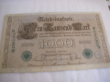 BILLET DE BANQUE ALLEMAGNE / GERMANY 1000 MARK - 1910 REICHSBANKNOTE