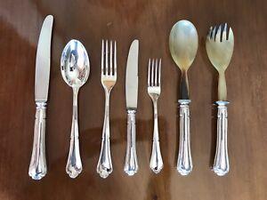 Servizio Di Posate Argento 800 Decorate Forchette Coltelli Cucchiai (62 Pezzi)