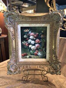 New Framed Oil on Canvas Floral Still Life for Baker Knapp & Tubbs Unsigned