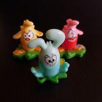 3 figurines poule lapin œuf jouet MAGIC KINDER surprise FERRERO chocolat N5269