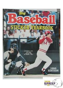 1986 Topps Sticker Yearbook - Partially Filled! (Collect the Rest!)... See Pics