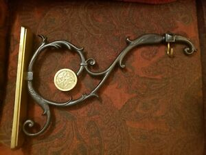 "Beautiful Ornate Cast Iron & Brass Sign Bracket 22"" Bombay Company India"