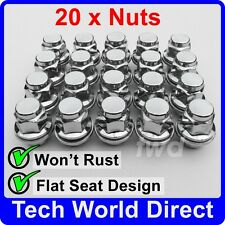 ALLOY WHEEL NUTS - TOYOTA AURIS X20 CHROME LUG BOLT STUD SCREW TOP QUALITY [A50]