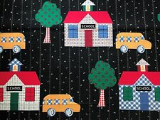 Cotton Quilt Fabric Traditions 1995 School, School Bus   BTHY