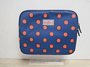 Cath Kidston Blue & Orange Dotty Tablet Kindle Ipad Case Bag Holder