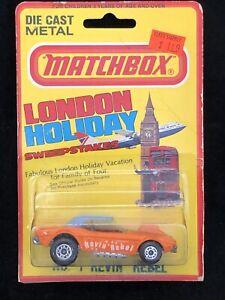 RARE Matchbox Superfast Revin Rebel 1975 Dodge Challenger London Holiday VTG