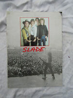 PROGRAMME SLADE TILL DEAF DO US PART TOUR vintage