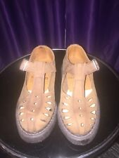 Crepe rubber sole sandal size UK 4 made in England 1980's nos