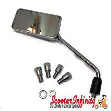 Mirror FAR F1 Chrome LEFT/SIDE (M8 or M10) (Vespa PX, GTS, GT, GTV, Lambretta)