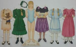 Monica Wendel #13 American Girl Magazine Cut Paper Doll w/ 5 Outfits 1990's
