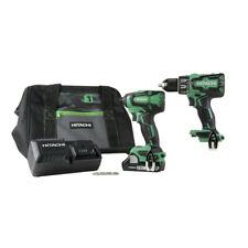 Hitachi 18V Cordless Hammer Drill & Impact Driver Combo Kit KC18DBFL2S Openbox