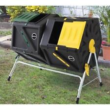 Miracle Gro 56 Gallon Dual Chamber Tumbling Composter Garden Compost Bin C1105MG