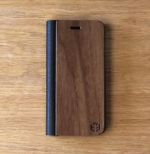 Apple iPhone 8 Walnut Wood / Leather Wallet Case