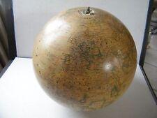 ancien gros globe terrestre mappemonde (diamètre 32,5 cm) J Forest en l'état