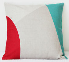 Abstract Design Throw Pillow Cushion Cover-pink,aqua blue,multi-coloured,shapes