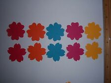 30 Fiskars Moroccan Flower Paper Die Cut Punches Confetti Cake Toppers Scatter