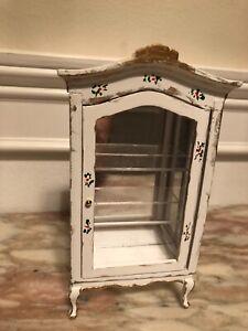 Dollhouse Miniature Cabinet Curio Hand Painted
