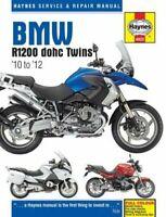BMW R1200 DOHC R1200GS ADVENTURE R1200R RT 1170cc 2010-2012 Haynes Manual 4925