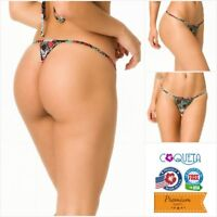 Coqueta Bikini Bottom ALOHA Brazilian MICRO Thong G String Hot Swimwear Swimsuit