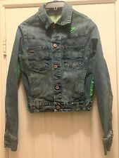 Pepe Jeans Vintage Blue Jean Jacket Size Large Crop Women