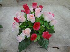 künstliche Blumen pflanzen  blumen dekoartik Grabgesteck  24 rosen mix