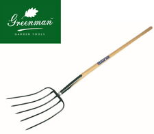 Manure Fork 5 prong High Quality Greenman Ash Handled 4ft 48""