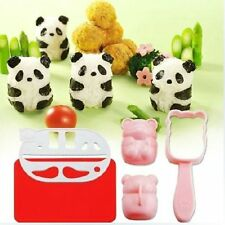 Kitchen Bento Accessories Rice Ball Mold Mould with Nori Punch Sushi Panda