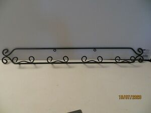 "HORIZONTAL  WROUGHT IRON PLATE RACK FOR  4"" MINI DECORATIVE PLATES"