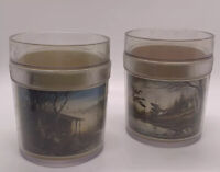 Vintage Terry  Redlin Thermo Plastic Drinking Cups Nature Scene