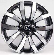 (4) 17x7 Honda Civic Accord Machined Black Aftermarket Rims Wheels 5x114.3 +45