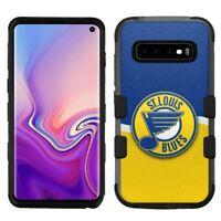 "for Samsung Galaxy S10 (6.1"") Hard Impact Rugged Case St. Louis Blues #WJ"
