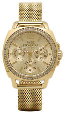 Coach 14502490 Gold Tone Dial Gold Plated Stainless Multifunction Women's Watch