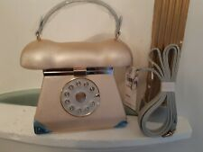 Ladies Handbag. Telephone. Dial. Mirror. Gold. Shoulder Strap.Fast 'N'Delivery.