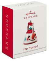 Hallmark: Tiny Teapot - Metal - Miniature Keepsake Ornament - 2018
