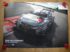 BMW M4 DTM BMW Team Schnitzer # 100 Tomczyk Poster Motorsport Racing Car M4 DTM