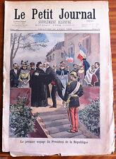 Le petit Journal 23/04/1899; Le premier voyage du président de la république
