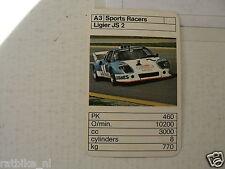 49-BOLIDES RACE CARS A3 LIGIER JS 2   KWARTET KAART,