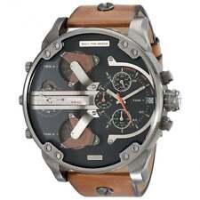 Diesel DZ7332 Mr Daddy 2.0 Black & Brown Leather Chronograph Men's Watch