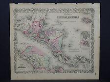 Colton's Maps, 1855, Authentic #10 Central America