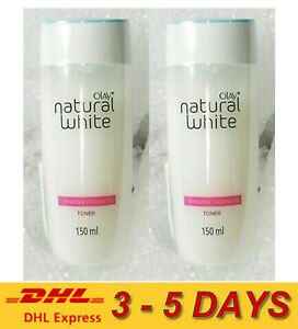 2 x Olay Natural White Hydrating Glow Toner Cleans with Nurturing Skincare 150ml