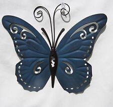 Butterfly Hand Painted Metal Wall Art Yard & Garden Home Decor (A)