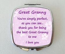 GREAT GRANNY Compact Mirror Fun Handbag Beauty Cosmetic Makeup Novelty Gift