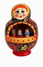 Boite à musique Fait Main -Matriochka noir -Cadeau Souvenir Russe